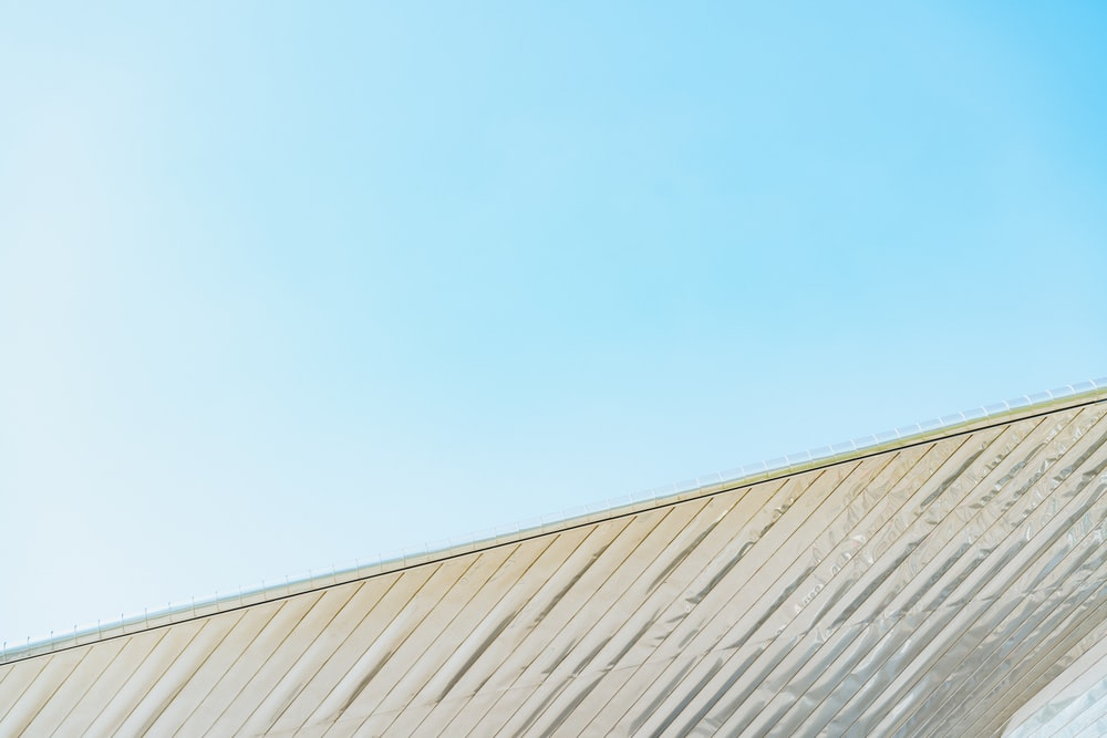 white roof under clear blue sky