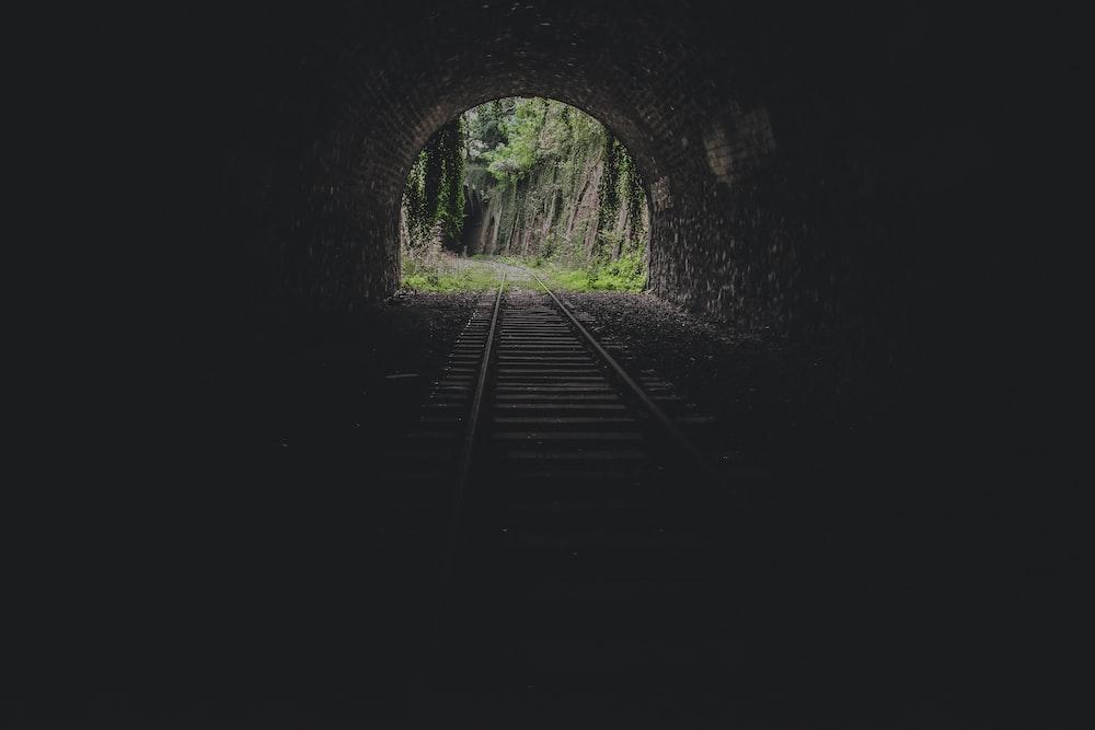 train track tunnel