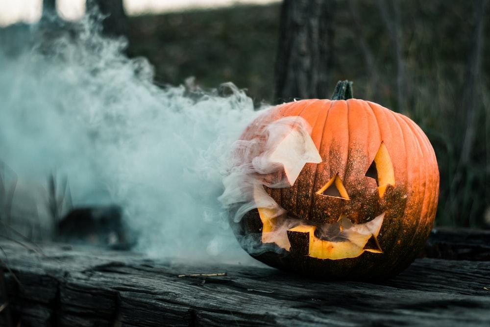 close-up of pumpkin near wall
