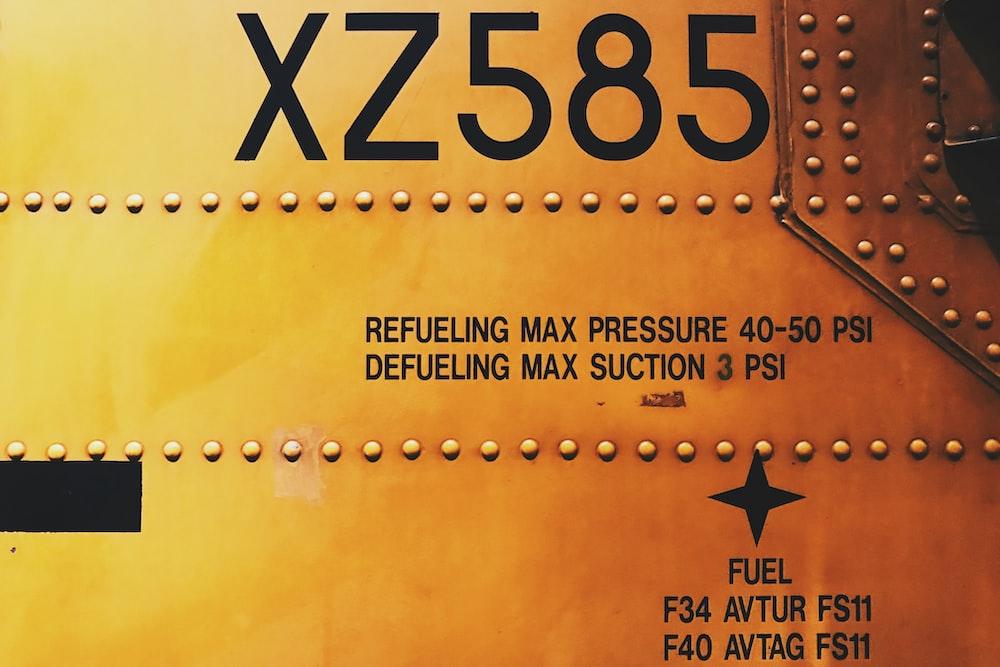 XZ585 refueling max pressure
