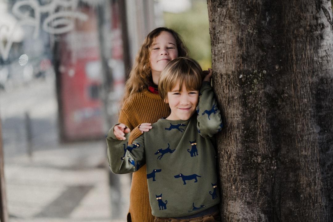 Happy siblings / children