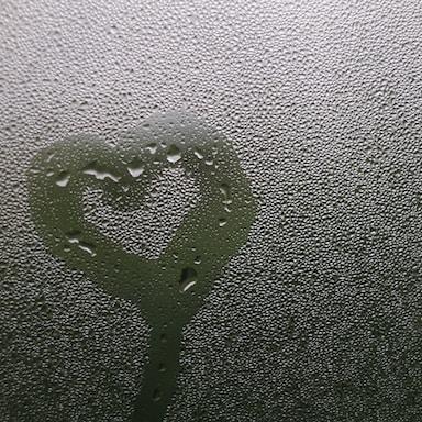 grey heart illustration