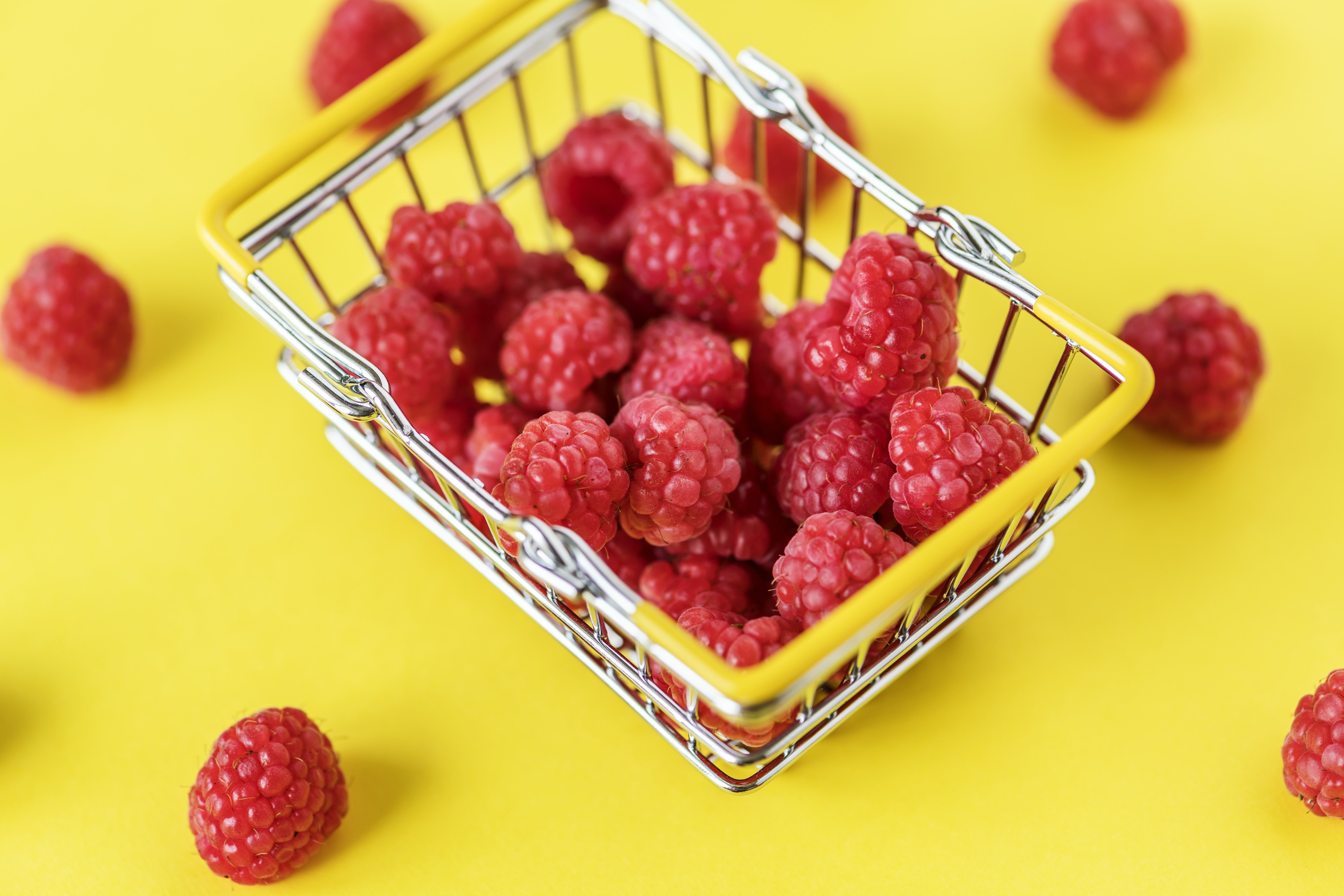 red raspberry fruits