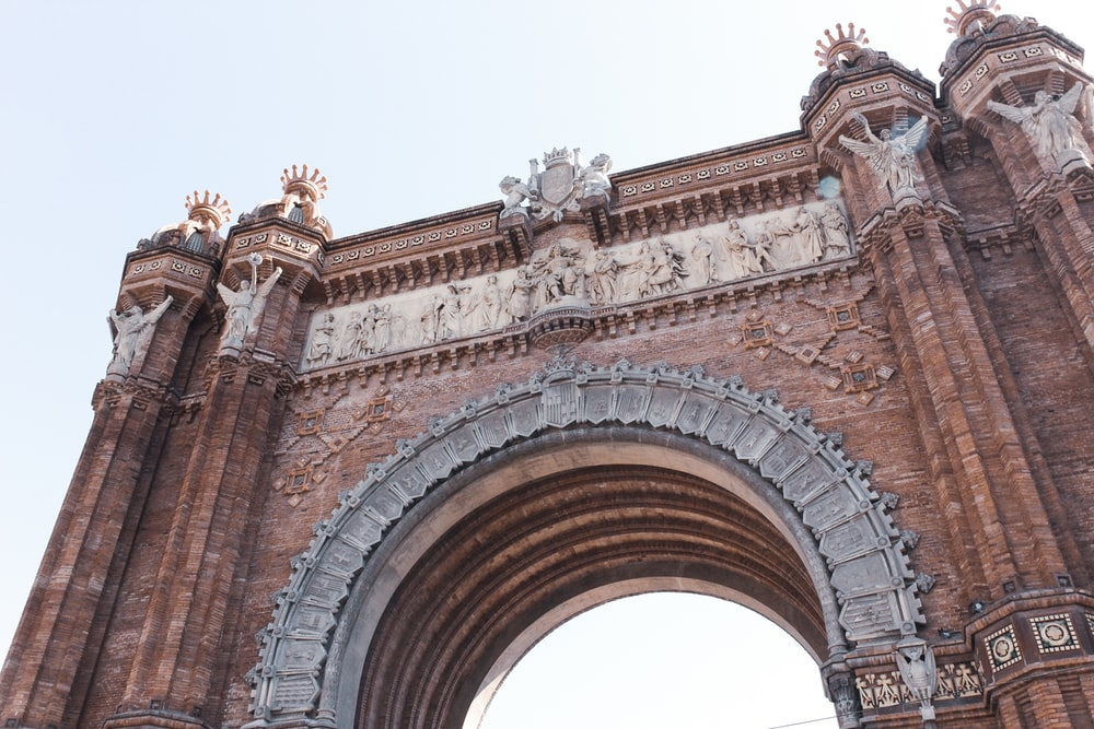 low angle view photography of Arc De Triomf