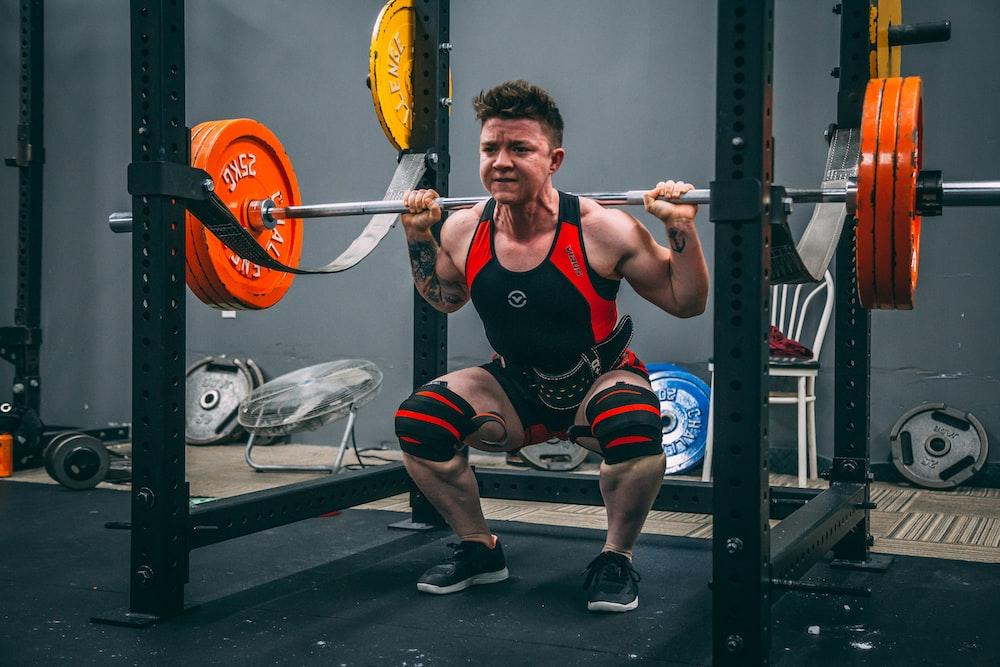 man weightlifting