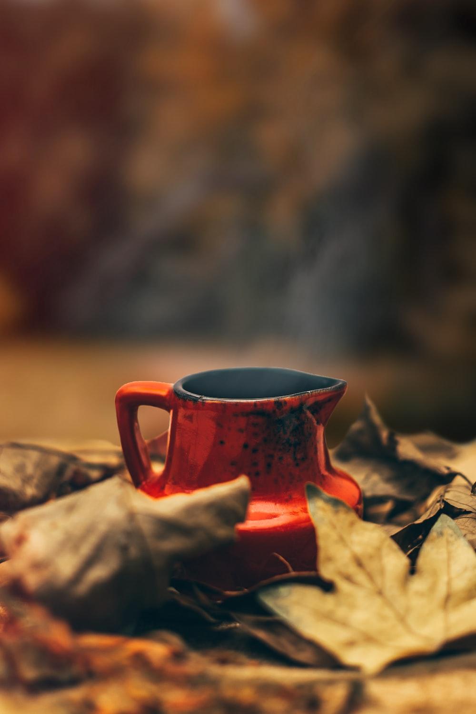red metal coffee pot