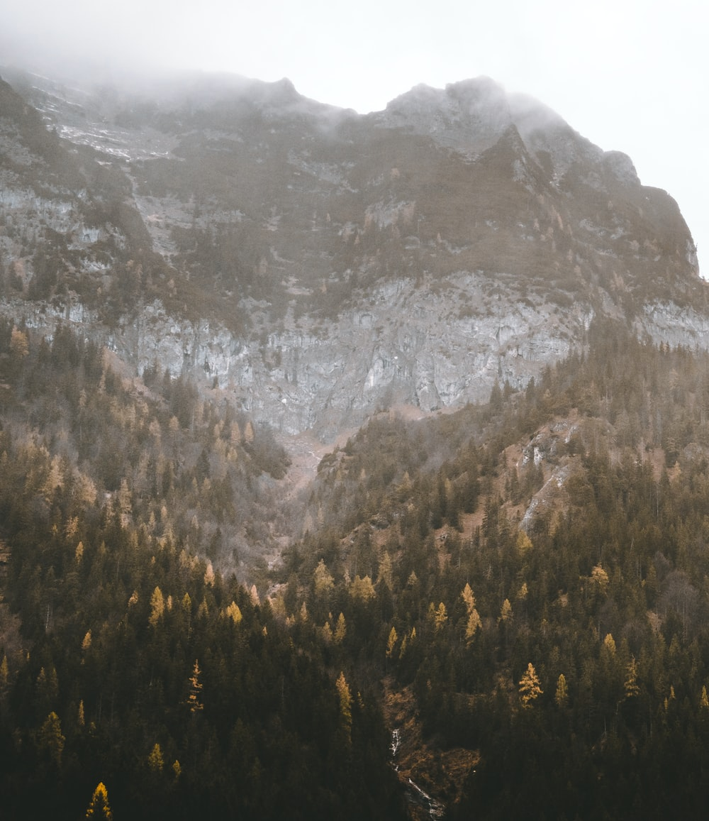 landscape photography of mountain rock