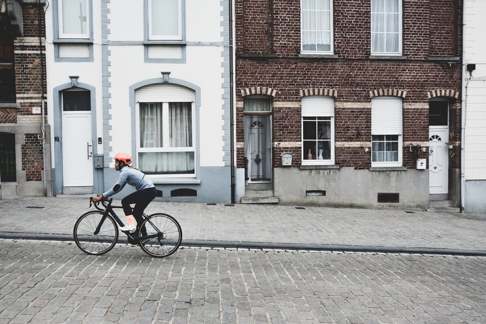 person on bicycle