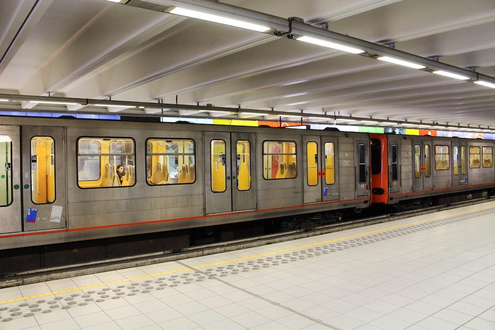 gray and orange train