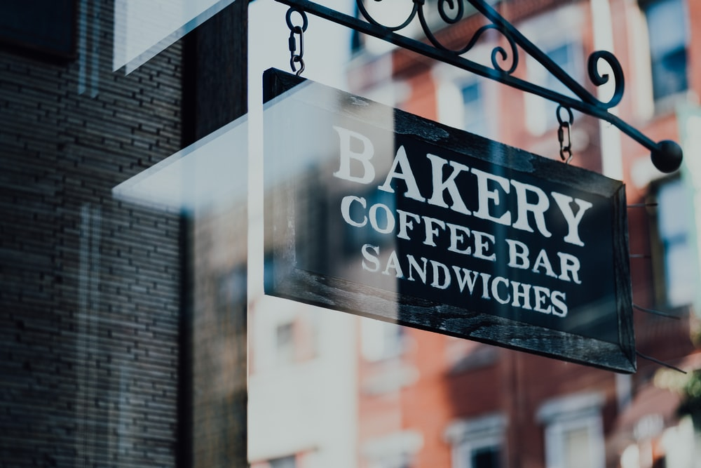 bakery coffee bar signage