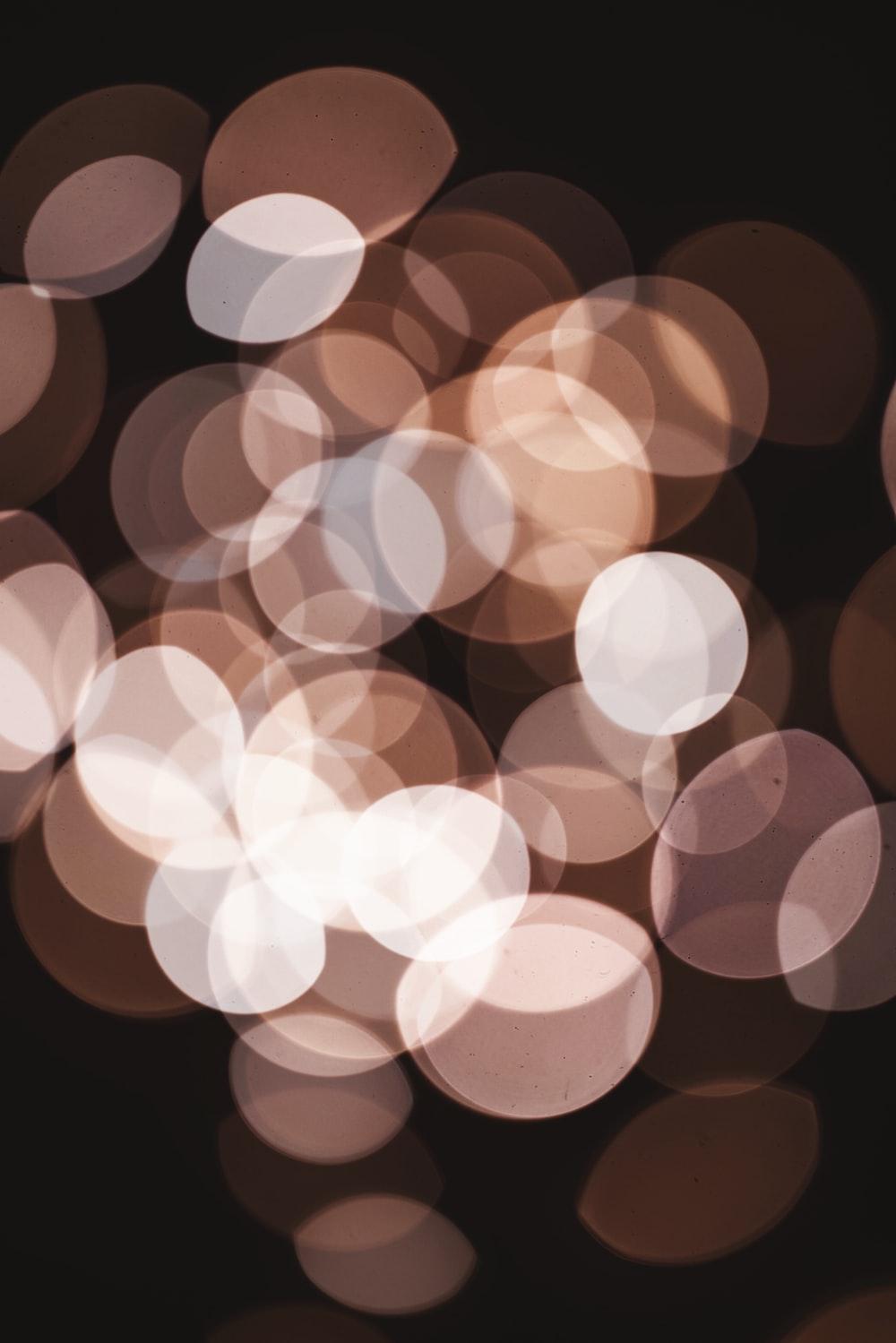 brown bokeh lights