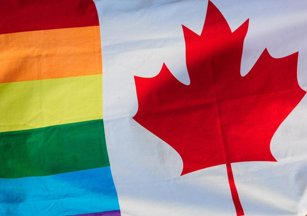 white Canada flag