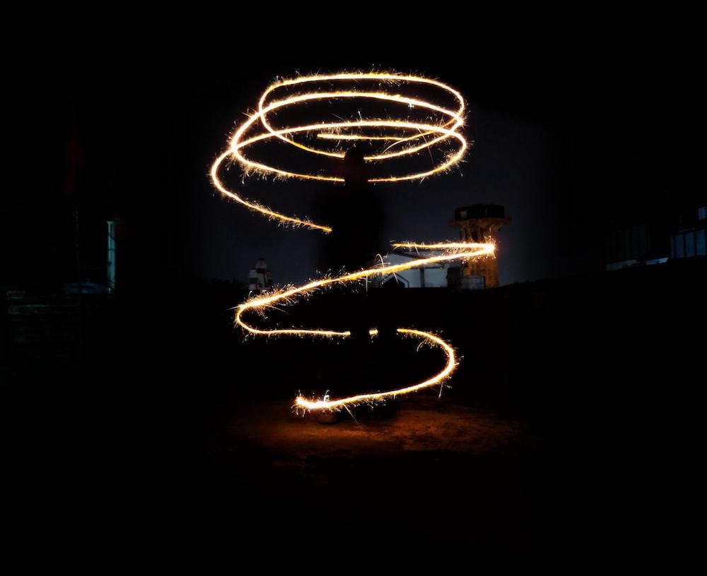 lighted red string lights