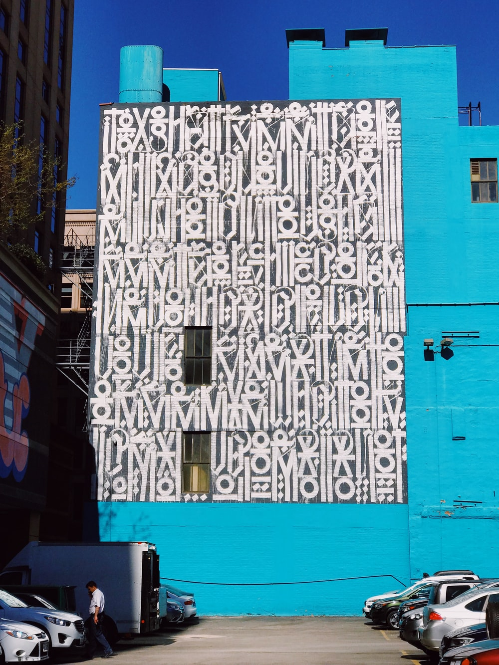 graffiti filled building