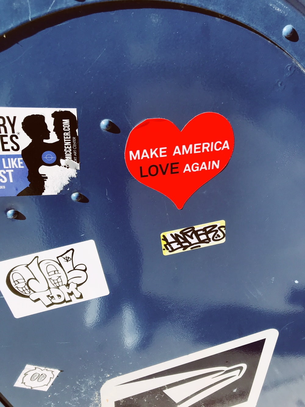 Make America Love Again heart sticker