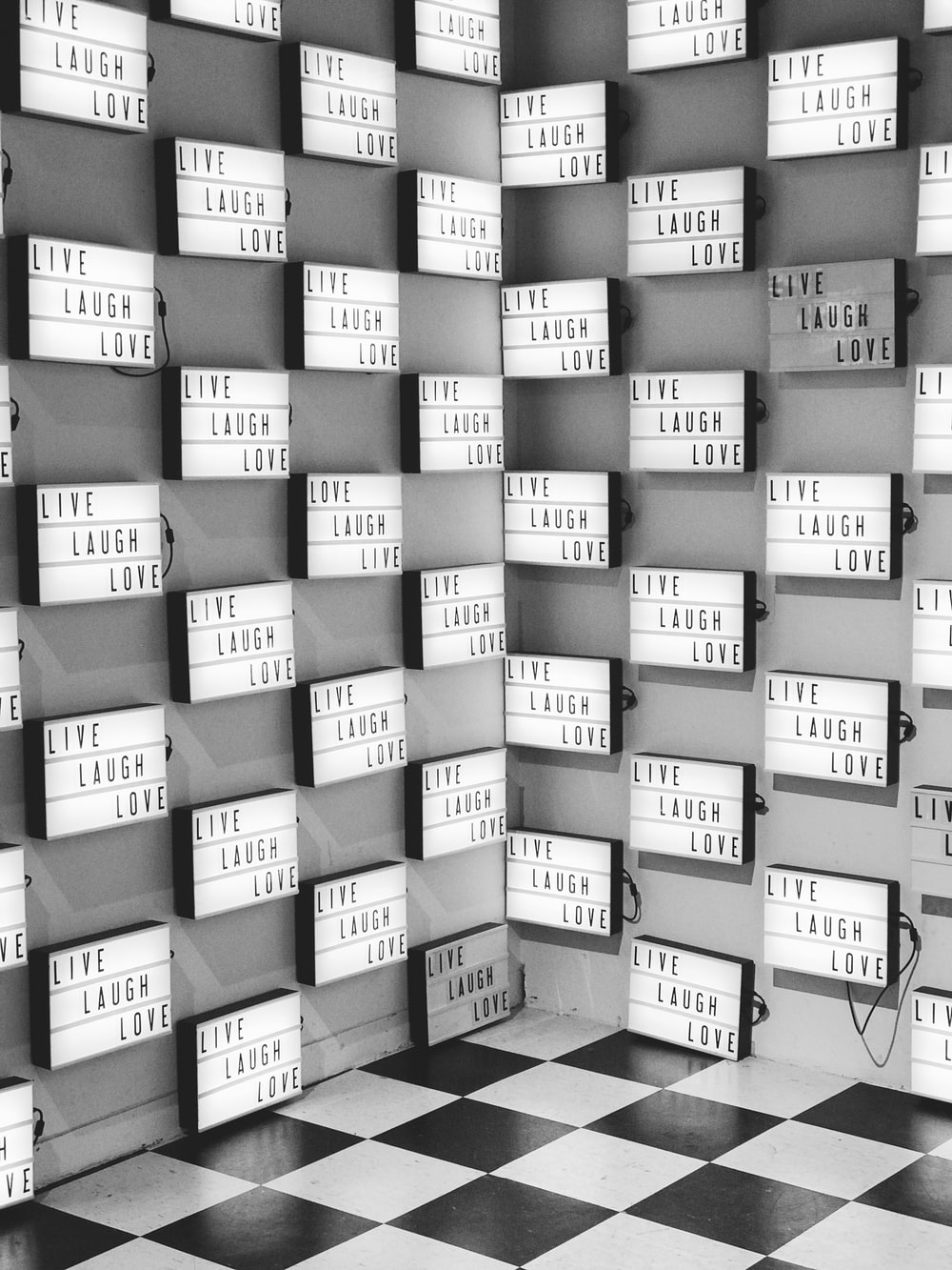 grayscale photography of wall