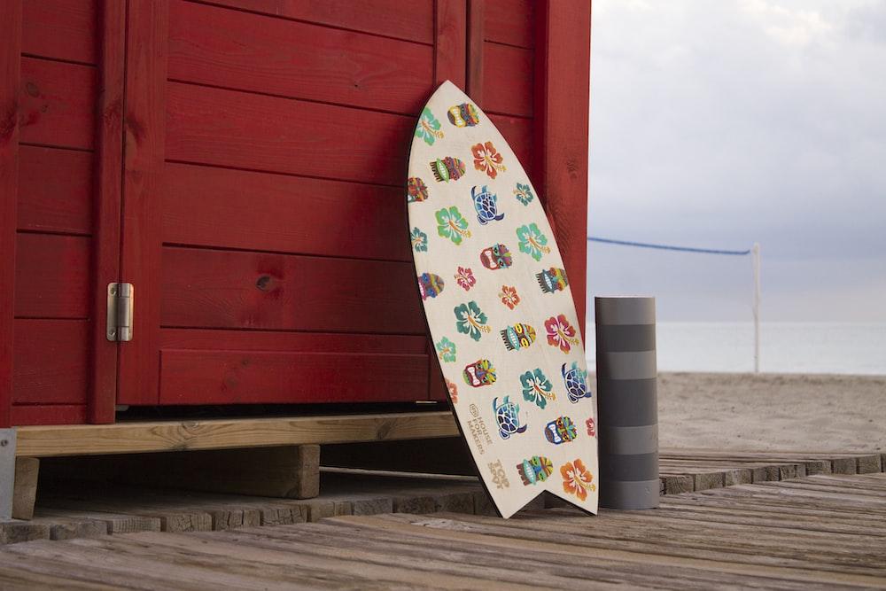 beige wooden body board
