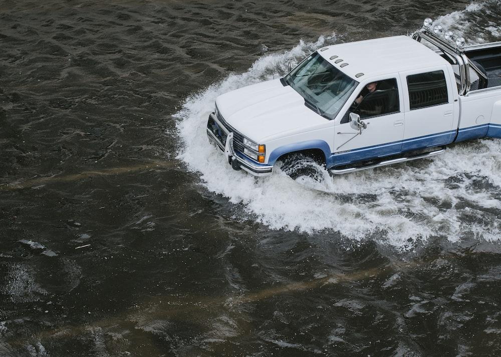 white crew cab truck