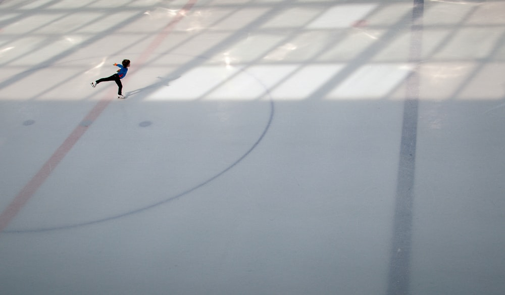 person doing ice skating