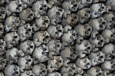 One of those gruesome things that people thought was a good idea once upon a time.  That of making walls and other monuments out of the bones of the dead.  This one is under a church in Blattern (Switzerland) and the general term is Ossuary.
