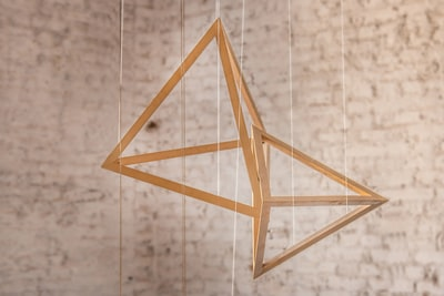 brown wooden hanging decors bow zoom background