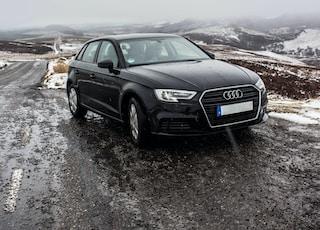 black Audi sedan