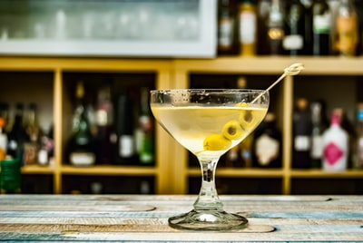A Martini mixed with gin and vermouth as you classicaly do, but with some added olive brine and an olive garnish. Making it this way gives the Martini a savory umami-note.