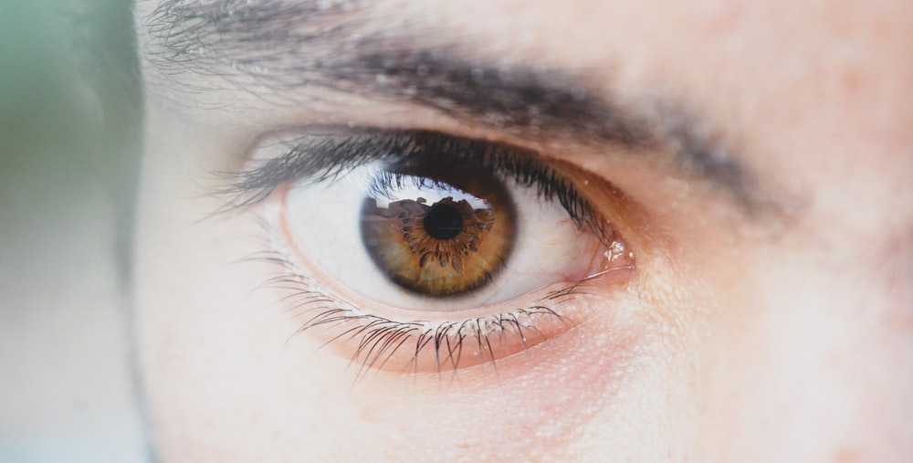 person with brown eye