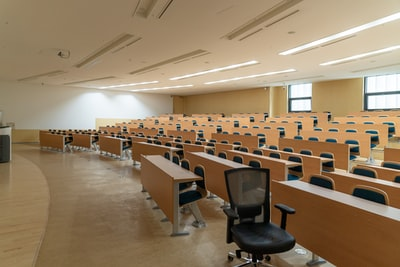 empty classroom in University of Seoul