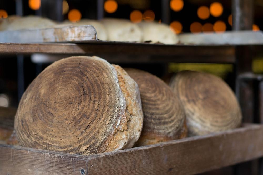 pastries on rack