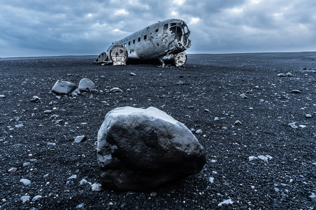 The saying is usually follow the yellow brick road, but not in Iceland. The saying goes, follow the black sand to your destination. The Sólheimasandur plane wreckage is a sight to see.