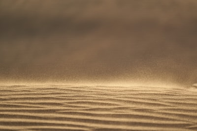 if the wind is not to strong you can see the sand dancing