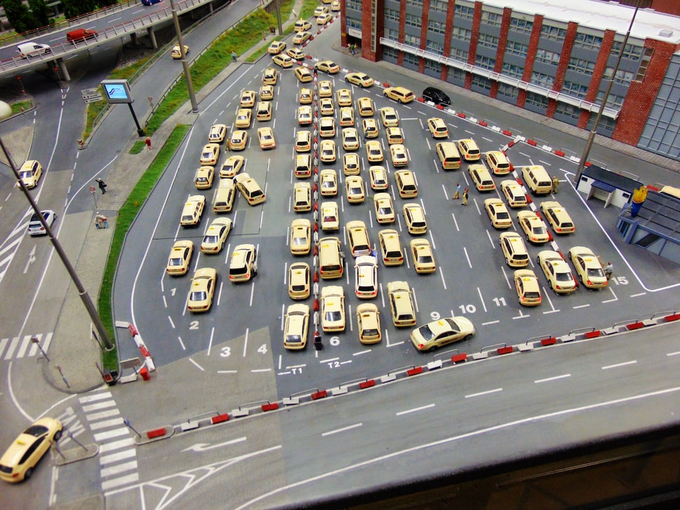 A click of taxis in Miniatur Wunderland