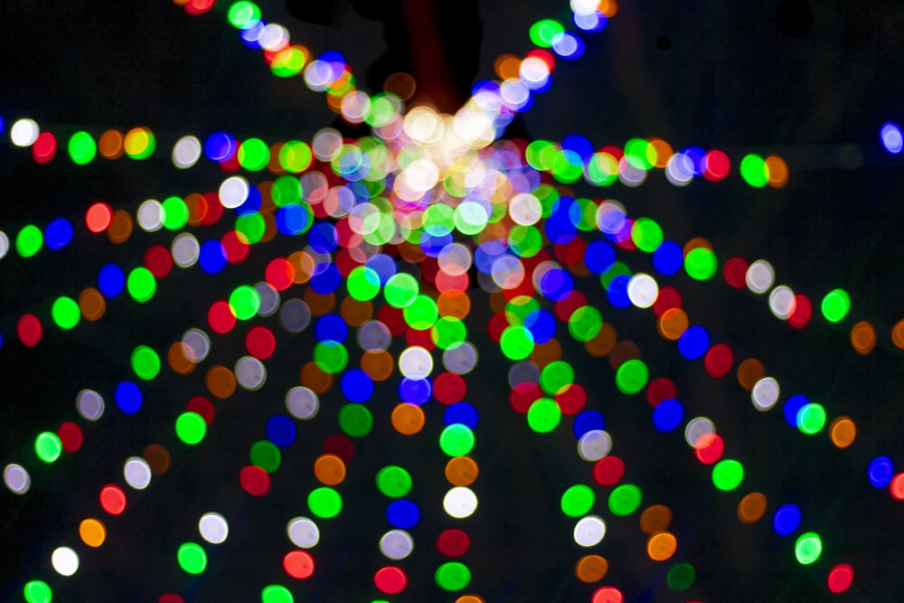 bokeh photography of assorted-color lights