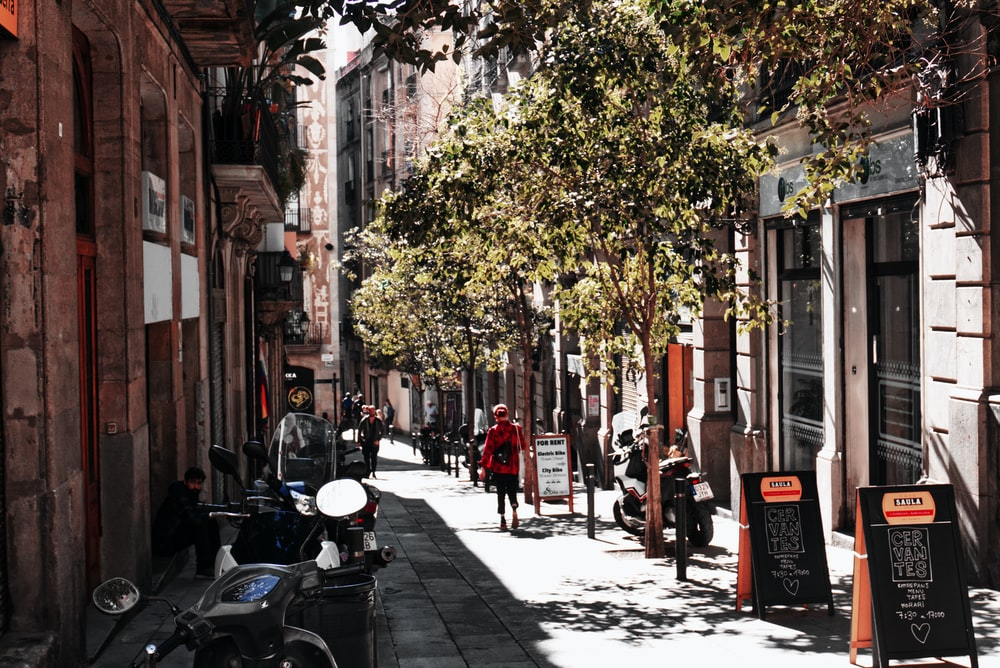 person walking on street
