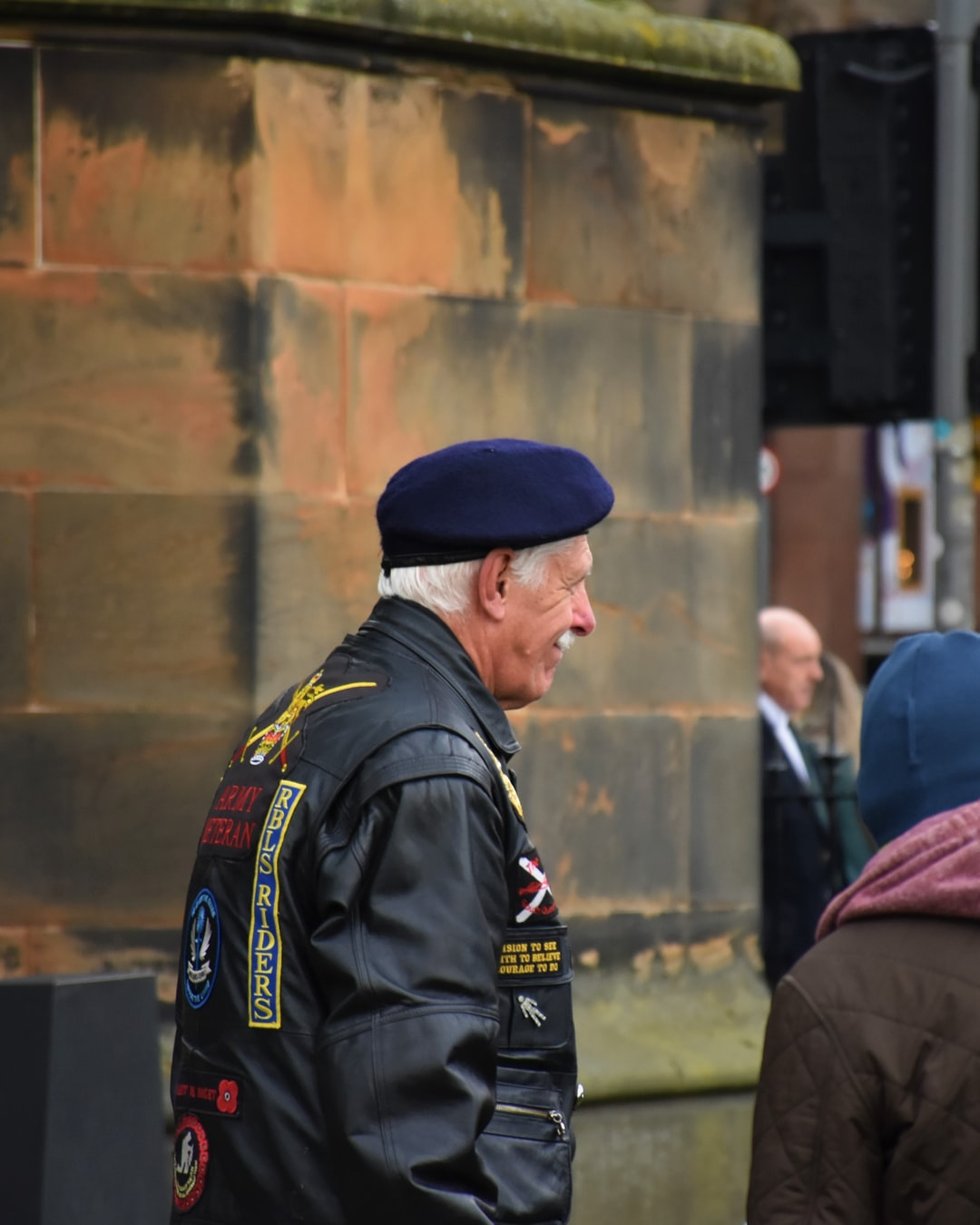 One century from the moment World War One ended, hundreds gather around Scott Monument in Edinburgh, Scotland, to pay moments in silence for soldiers lost. This photo was taken shortly afterward.