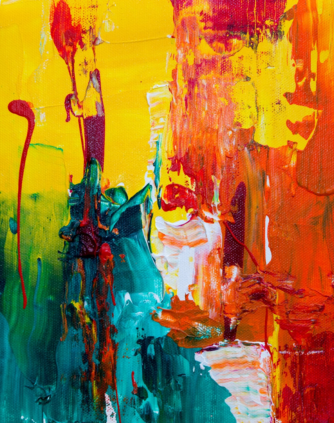 small abstract expressionist painting