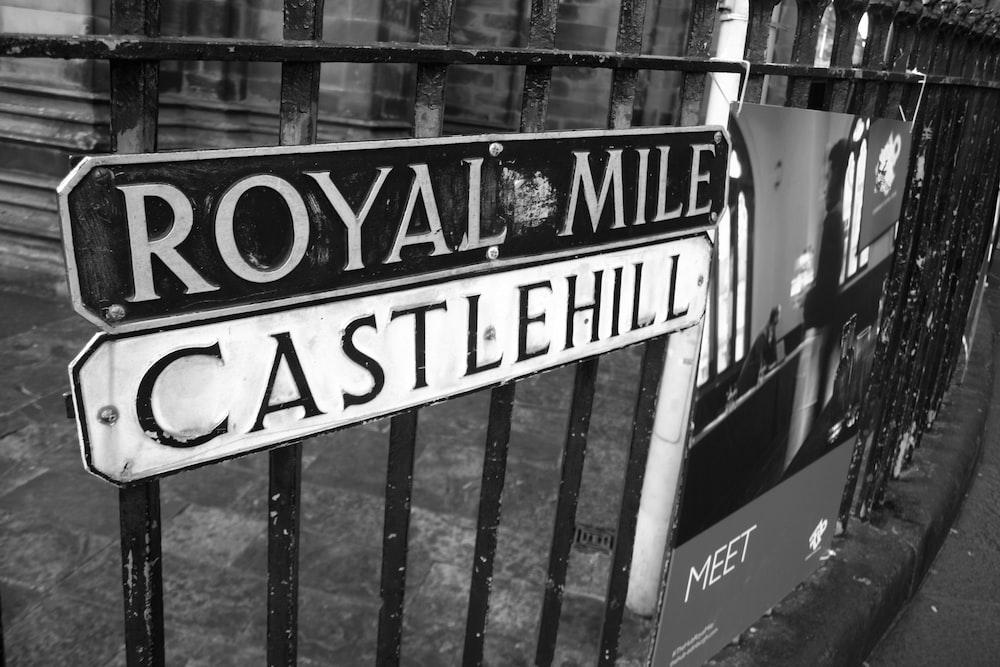 Royal Mile signage