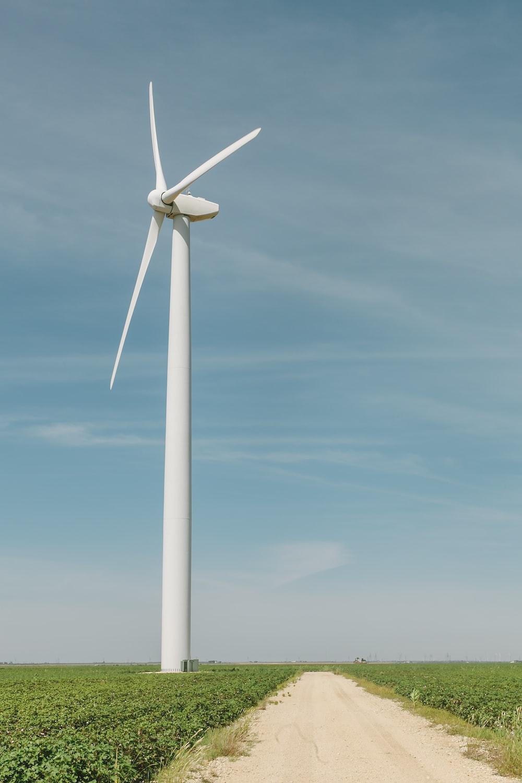 wind turbine beside road