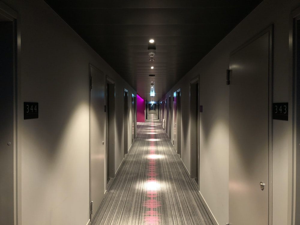 empty building pathway