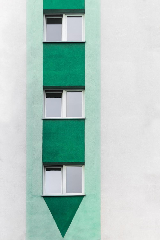 white wooden sliding glass window