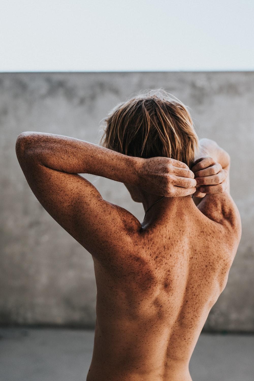 topless man