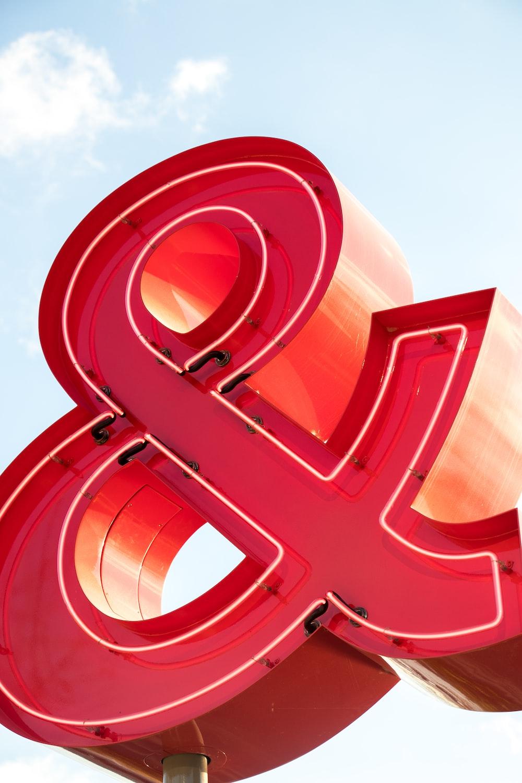 red Ampersand signage