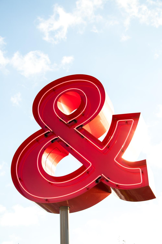 ampersand signage photography