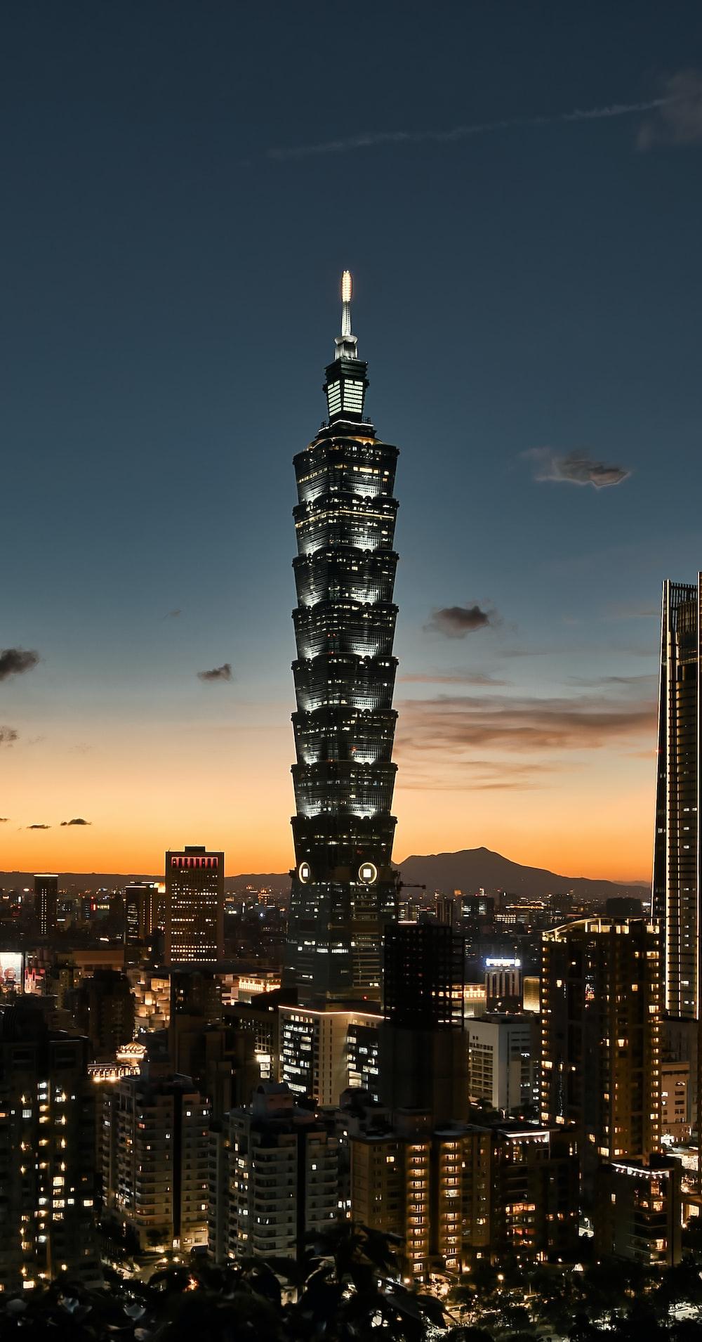 black high rise building