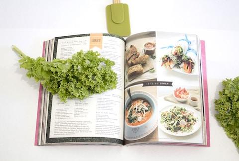 green leaf on cookbook