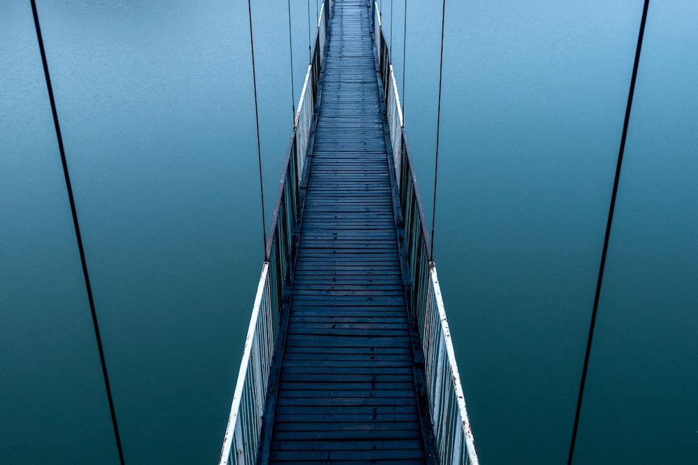 empty bridge over water