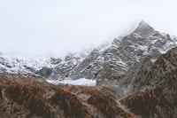 glacier mountain under white clouds