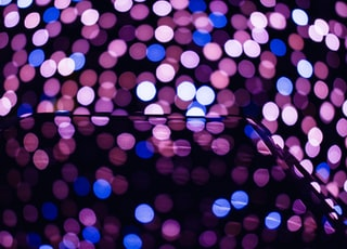 pink, white, and blue bokeh lights wallpaper