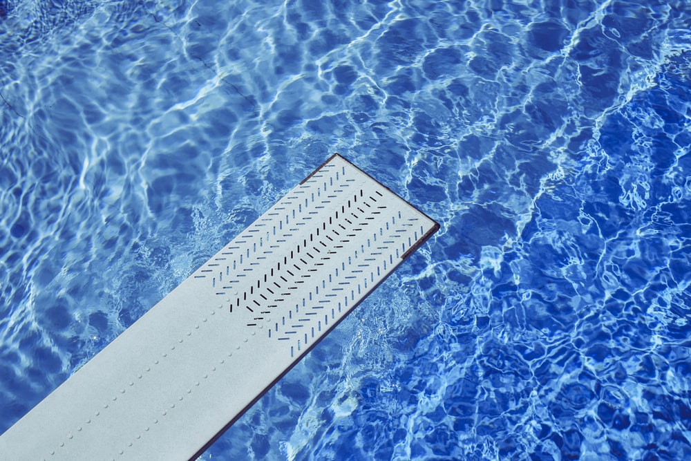 gray diving board